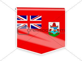Flag label of bermuda