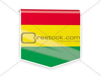 Flag label of bolivia