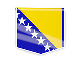 Flag label of bosnia and herzegovina