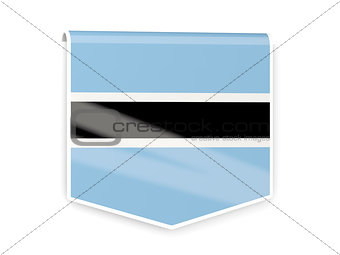 Flag label of botswana