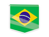 Flag label of brazil