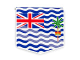 Flag label of british indian ocean territory