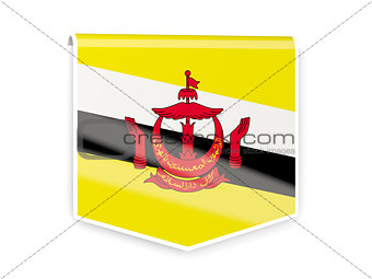 Flag label of brunei