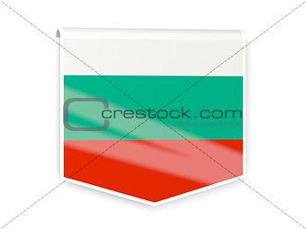 Flag label of bulgaria