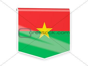 Flag label of burkina faso