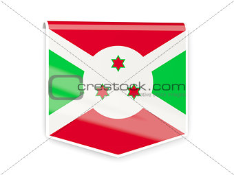 Flag label of burundi