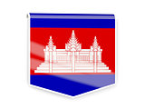 Flag label of cambodia