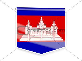 Flag label of cambodia