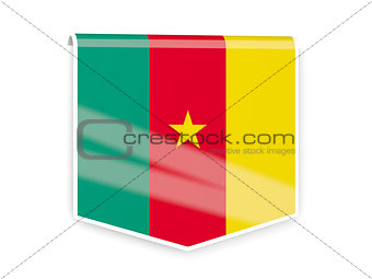 Flag label of cameroon