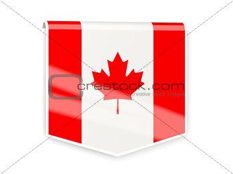 Flag label of canada