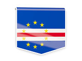 Flag label of cape verde