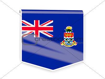 Flag label of cayman islands