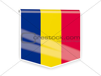 Flag label of chad