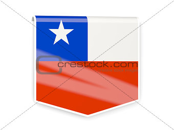 Flag label of chile