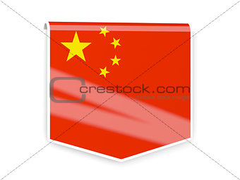 Flag label of china