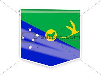 Flag label of christmas island