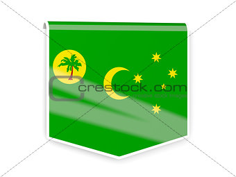 Flag label of cocos islands