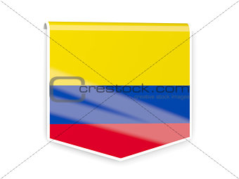 Flag label of colombia