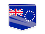 Flag label of cook islands