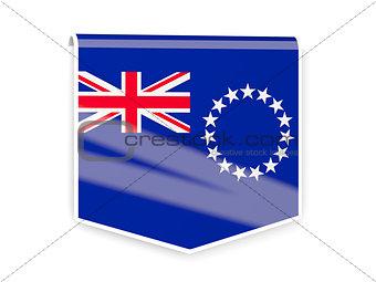 Flag label of cook islands