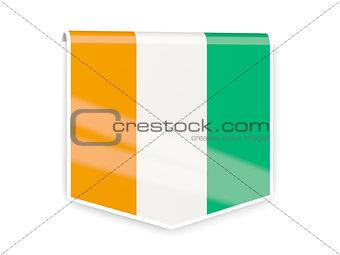 Flag label of cote d Ivoire