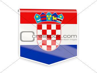 Flag label of croatia