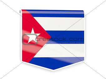 Flag label of cuba