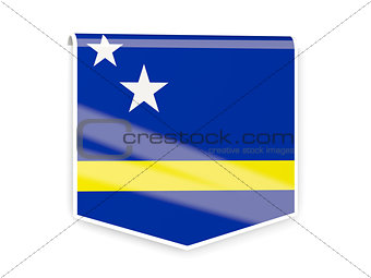 Flag label of curacao