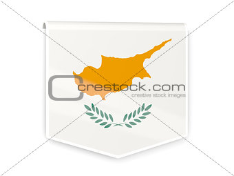 Flag label of cyprus