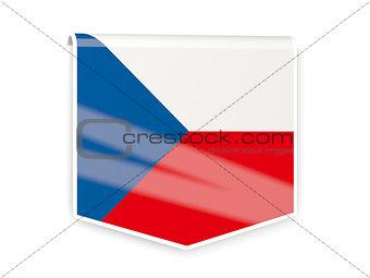 Flag label of czech republic