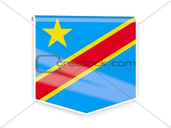 Flag label of democratic republic of the congo