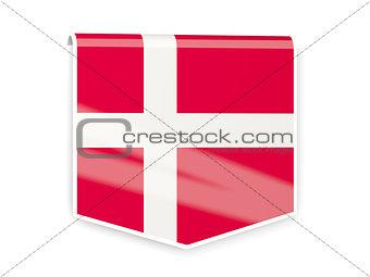 Flag label of denmark