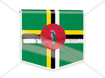 Flag label of dominica