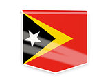 Flag label of east timor