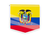 Flag label of ecuador