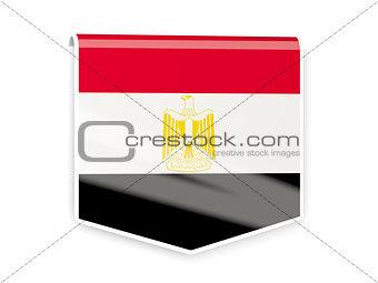 Flag label of egypt