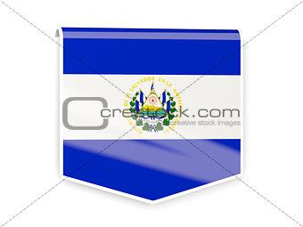 Flag label of el salvador