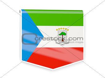 Flag label of equatorial guinea