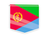 Flag label of eritrea