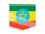 Flag label of ethiopia