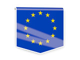 Flag label of european union