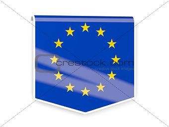 Flag label of european union