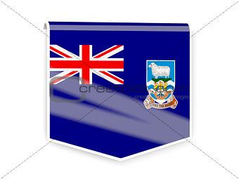 Flag label of falkland islands