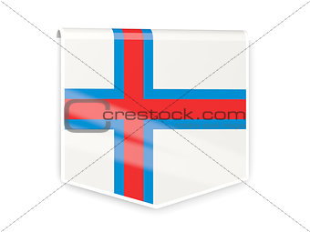 Flag label of faroe islands