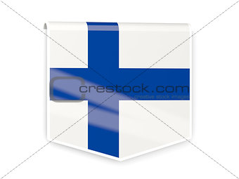 Flag label of finland