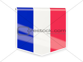 Flag label of france
