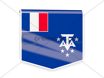 Flag label of french southern territories