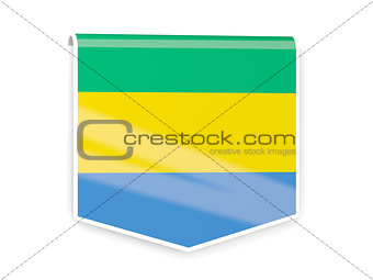 Flag label of gabon