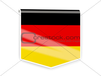 Flag label of germany