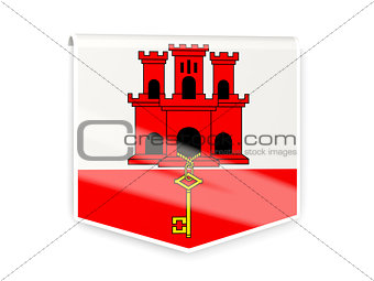 Flag label of gibraltar